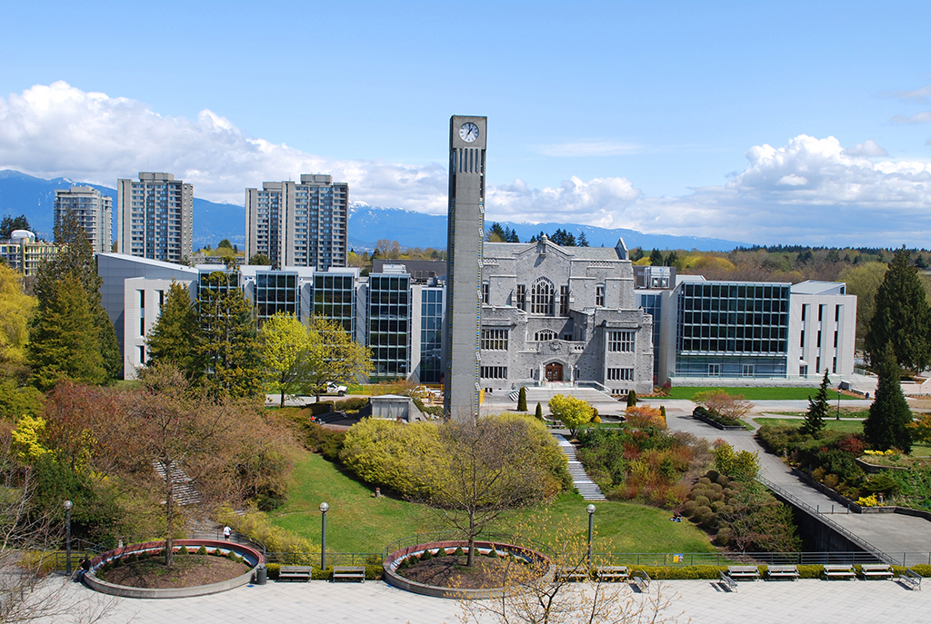 A drone shot of UBC
