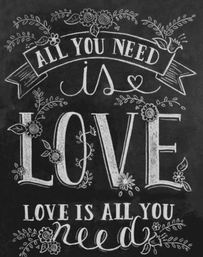 Quote written in chalk