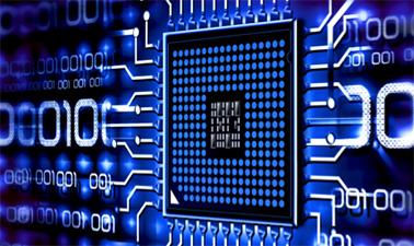 A computer microchip