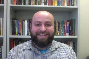 This image shows Professor Shipley in his office.