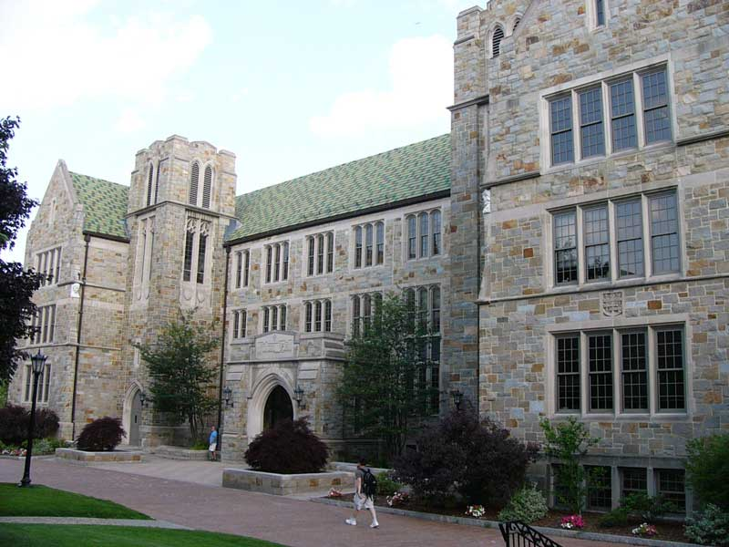 Fulton Hall is located right between Mcguinn Hall and Gasson Hall.
