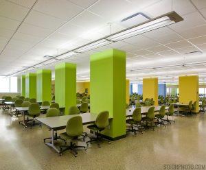 Study hall at Cameron Library
