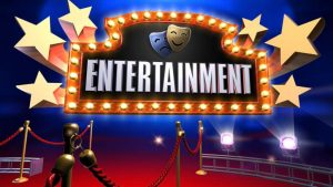 An image of the word entertainment.