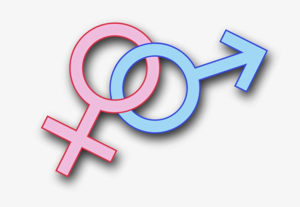 Symbolic representation of the male and female gender