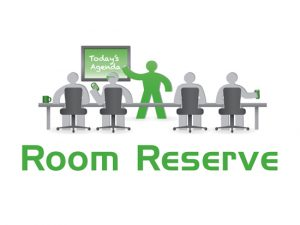 room reserve logo with 5 people