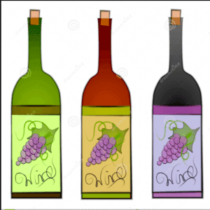 A picture showing 3 out of the many different types of wines