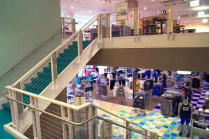 Inside the Grand Valley State University Laker Store.