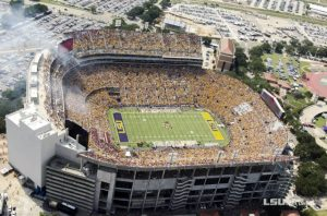 People in the Tiger Stadium.