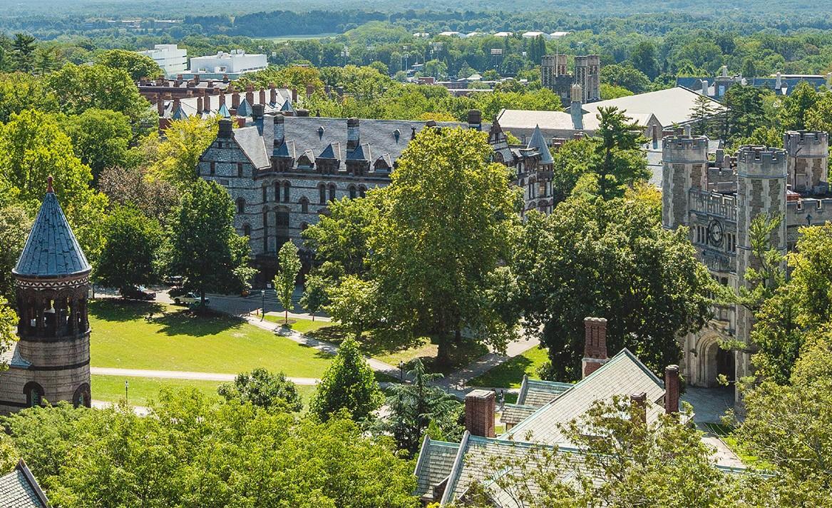 The stunning campus of Princeton University.