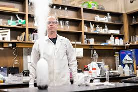 This image shows Professor Maynard in his lab.