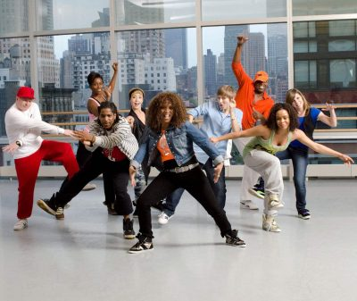 Hip-hop dance group of students