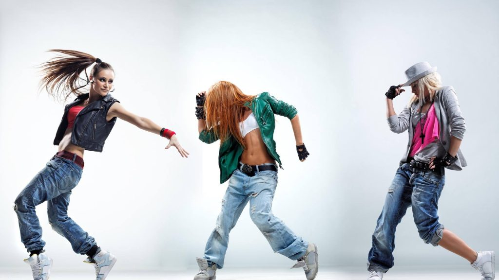 Picture of three people dancing