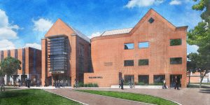 This is an artistic representation of Ifshin Hall since it was very recently completed.