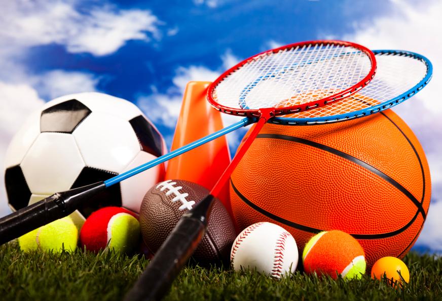 Different sport materials