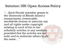 Open Access Policy statement