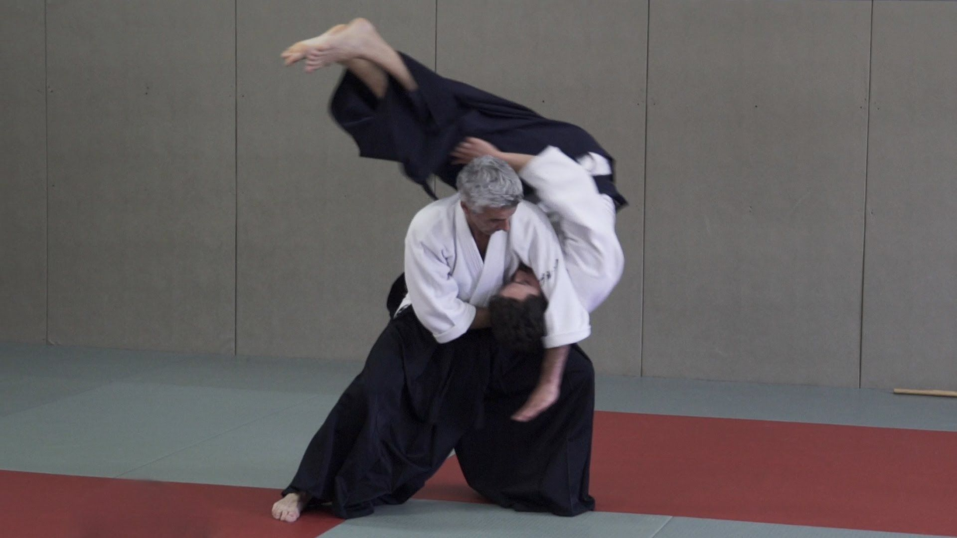 People practicing aikido