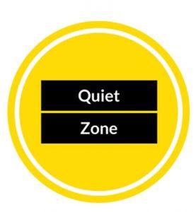 Quiet zone logo