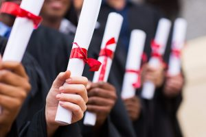diplomas.