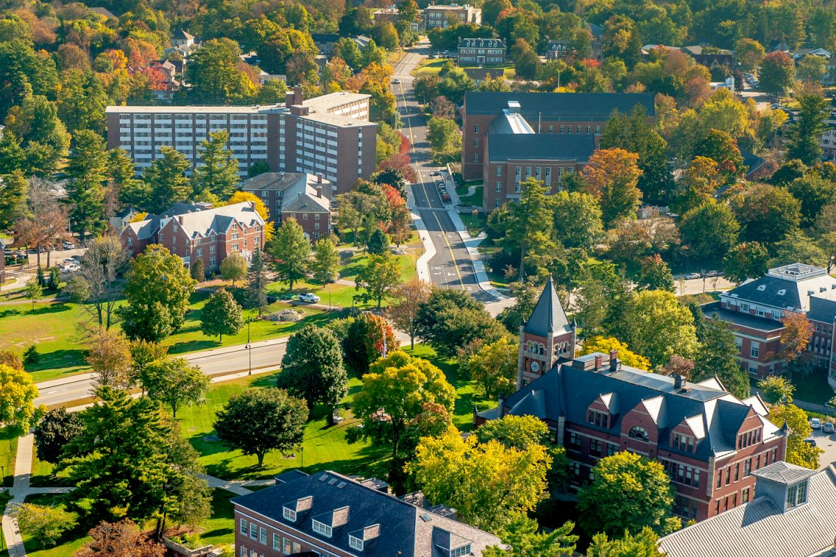 An aerial view of UNH