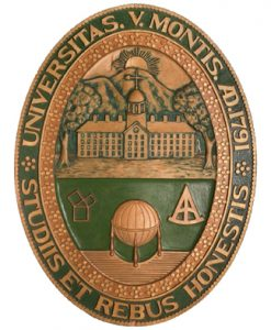 This is a picture of the university seal.