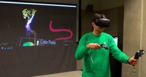 The virtual reality studio at the University of Calgary