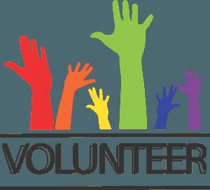 An image of the word volunteer.