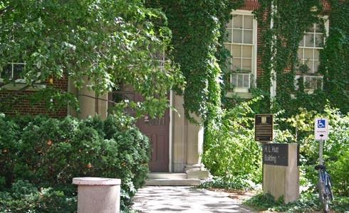 Main entrance - H.L. Hutt Building