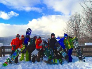 Students at Farmingdale enjoying skiing and snowboarding