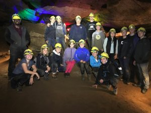 The Outdoors Club on a caving adventure