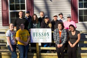 Habitat for Humanity club members at Husson