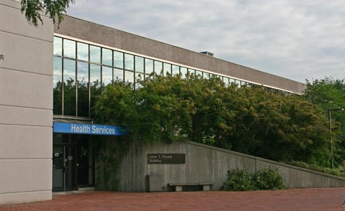 The Health Services Main Entrance