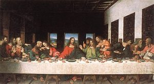 Picture of the Last Supper that is often the logo for this club.