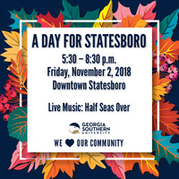 Event sign for A Day for Statesboro