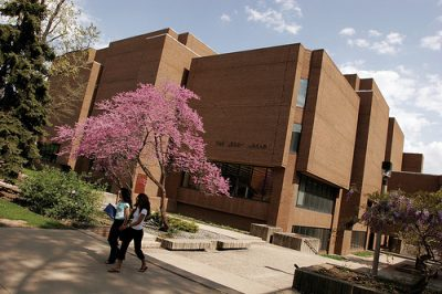 The Leddy Library building