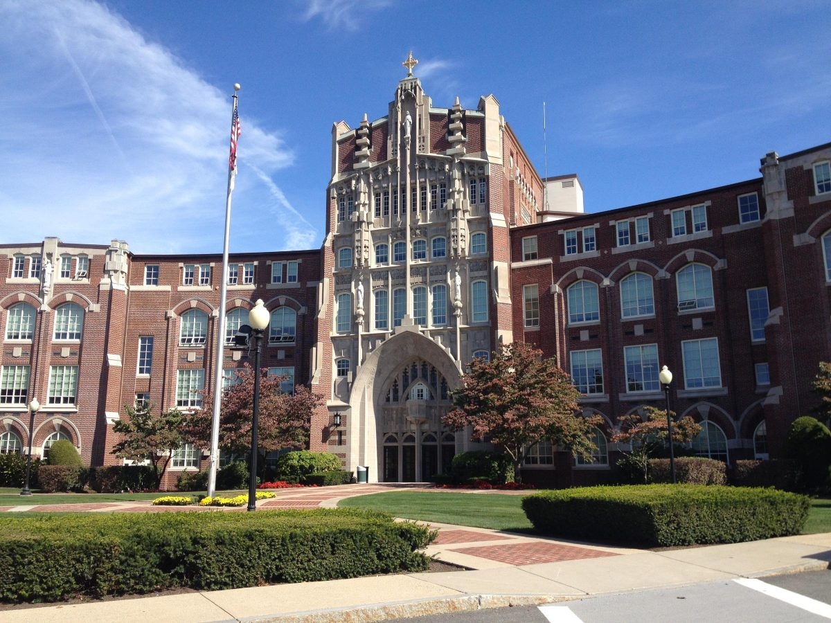 The main building at Providence College