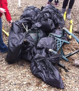 Trash Cleanup by the Green Team