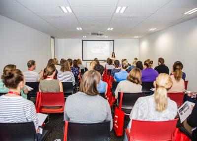 People attending a workshop