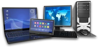 An image of phones, laptops and tablets