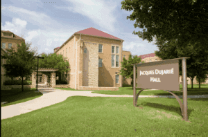 Exterior of Jacques Dujarie Hall