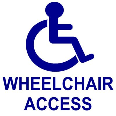 Wheelchair accessibility sign