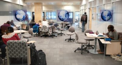 Common lounge area at the Lui Learning Commons
