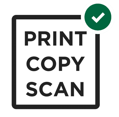 Print, copy, and scan graphic logo