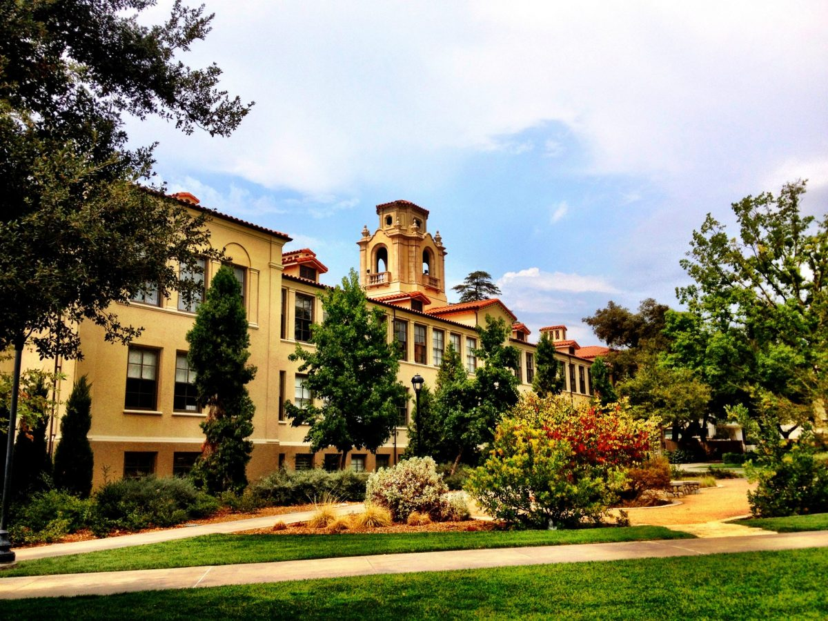 Mason Hall and the academic quad at Pomona College