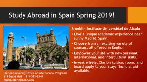 A study abroad flier