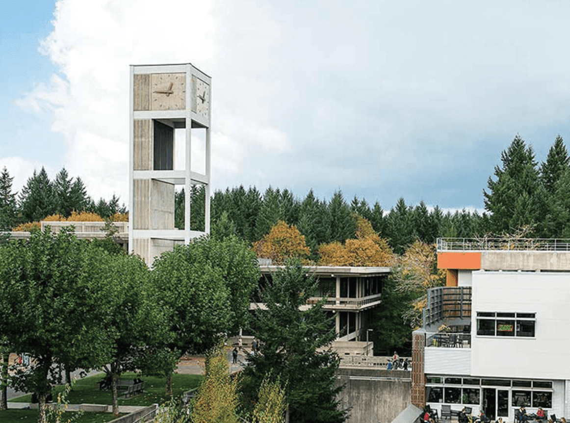 Evergreen State College clock tower building