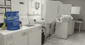 The complex's laundry room
