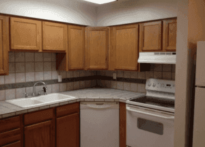 This is inside Campus Townhome Apartments