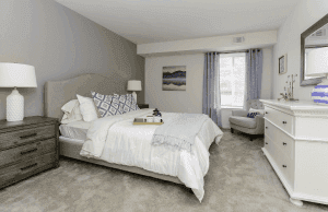 This is a bedroom inside a unit here