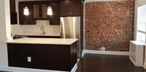 A kitchen inside an apartment here