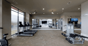 The complex's workout room
